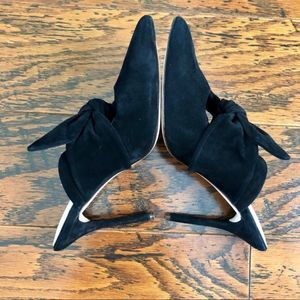 AD & Daughters Dressy Mules Heels with Knot Ties